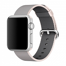 Ремешок для Apple Watch 42mm Dixico Nylon Line Pattern Band Light Gray/White