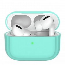 Чехол для AirPods Pro Deppa Silicone case Mint