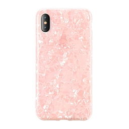 Чехол для iPhone XS Max Broken Glitter Pink