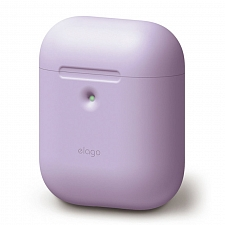 Чехол для наушников Apple AirPods Wireless Elago Silicone Case Lavender