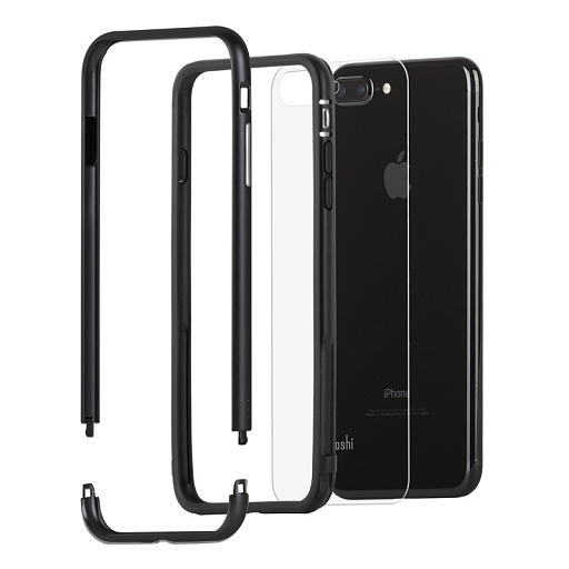 Чехол-бампер для iPhone 8 Plus/7 Plus Moshi Luxe Black