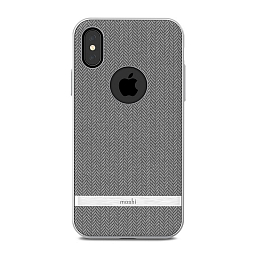 Чехол для iPhone X/XS Moshi Vesta Herringbone Gray