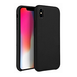 Чехол для iPhone XS Max Uniq Duffle Vale Genuine leather Black