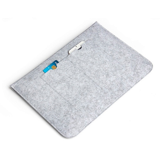 "Чехол для MacBook (up to 15"") Dixico Felt Bag Gray/Black"