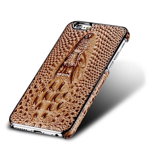 Чехол для iPhone 7 Dixico Crocodile Leather Brown