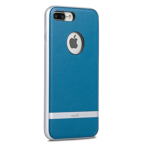 Чехол для iPhone 8 Plus/7 Plus Moshi Napa Vegan Leather Case Marine Blue