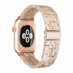 Браслет для Apple Watch 38/40mm Dixico Amber Resin Series Beige Yellow