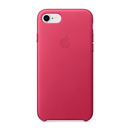 Чехол для iPhone 8/7 Apple Leather Case - Pink Fuchsia