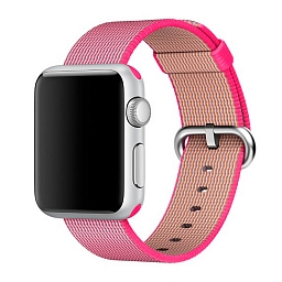 Ремешок для Apple Watch 38mm Dixico Nylon Line Pattern Band Pink