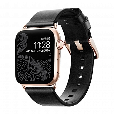 Ремешок для Apple Watch 40mm/38mm Nomad Modern Strap (Slim) Black/Gold