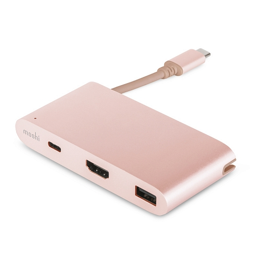 Адаптер Moshi USB-C Multiport - Golden Rose