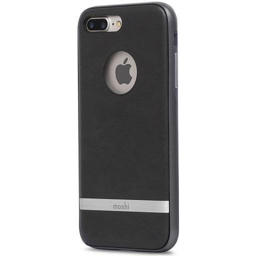 Чехол для iPhone 8 Plus/7 Plus Moshi Napa Vegan Leather Case Charcoal Black