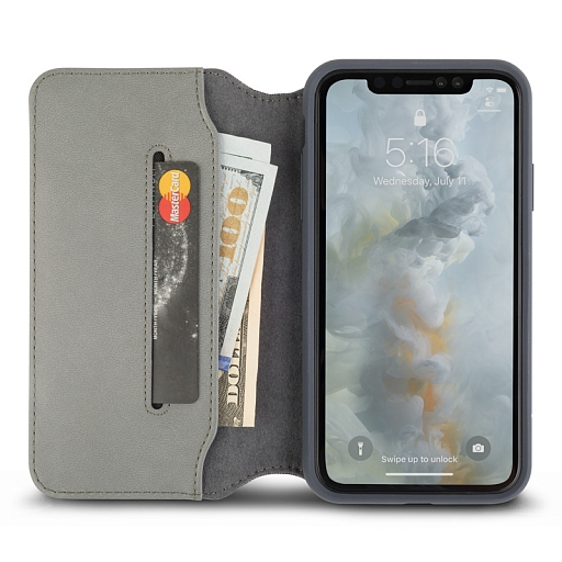 Чехол для iPhone XS Max Moshi Overture Herringbone Gray