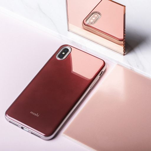 Чехол для iPhone XS Max Moshi iGlaze Red