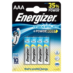Батарейка Energizer Maximum AAA, 4шт