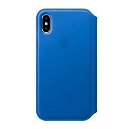Чехол для iPhone X Apple Leather Folio - Electric Blue