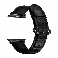 Ремешок для Apple Watch 42/44mm L&Y Leather Rectangle Black