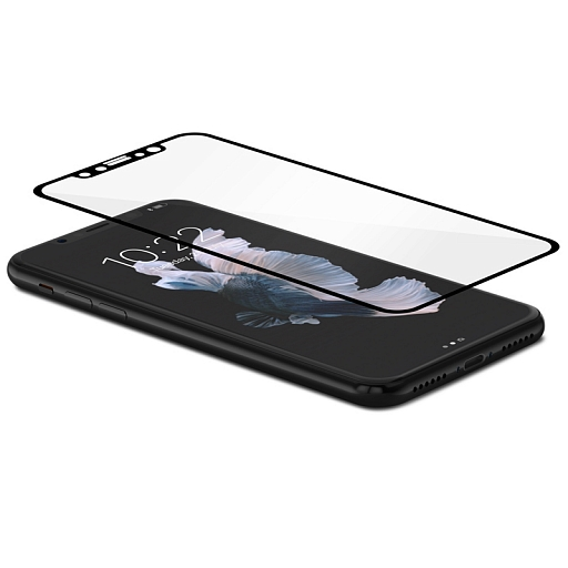 Защитное стекло для iPhone X Moshi IonGlass Black (Glossy)