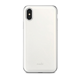 Чехол для iPhone X/XS Moshi iGlaze Pearl White
