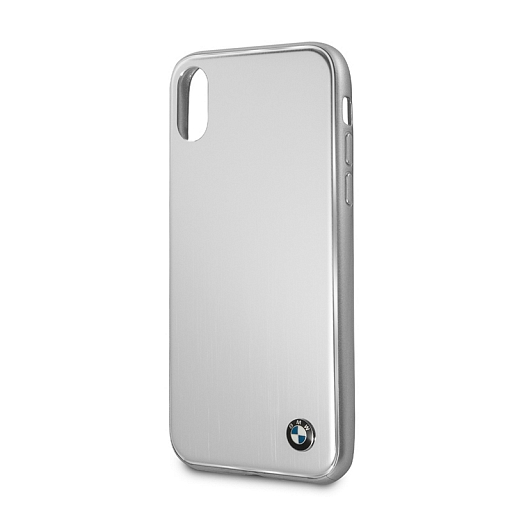 Чехол для iPhone X BMW Signature Brushed Aluminium Hard Silver