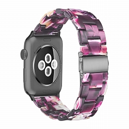 Браслет для Apple Watch 38/40mm Dixico Amber Resin Series Beige Purple