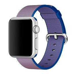Ремешок для Apple Watch 38mm Dixico Nylon Line Pattern Band Yellow/Blue