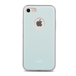 Чехол для iPhone 8/7 Moshi iGlaze Powder Blue