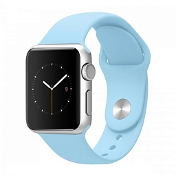 Ремешок для Apple Watch 42 mm Dixico Light Blue Sport Band