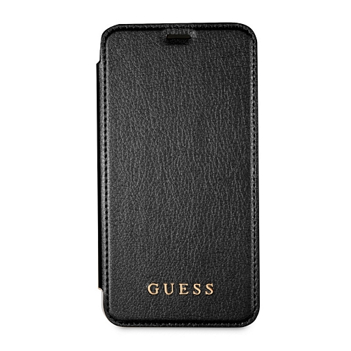 Чехол для iPhone X Guess Iridescent Booktype PU Black