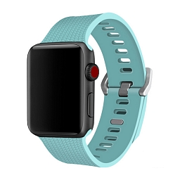 Ремешок для Apple Watch 38mm Dixico Silicone Band Turquoise