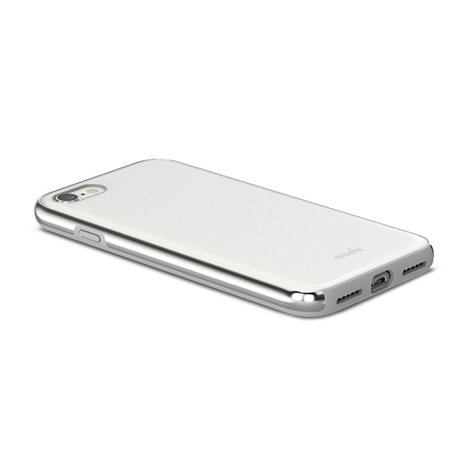 Чехол для iPhone 8/7 Moshi iGlaze Pearl White