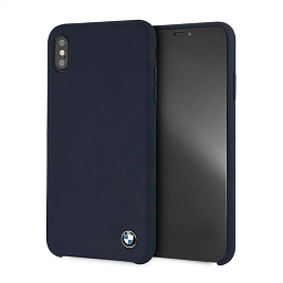 Чехол для iPhone XS Max BMW Signature Liquid silicone Hard TPU Navy