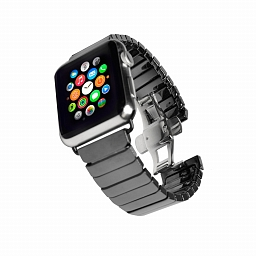 Браслет для Apple Watch 38mm Dixico Ceramic Link Bracelet Black