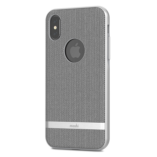 Чехол для iPhone X Moshi Vesta Herringbone Gray