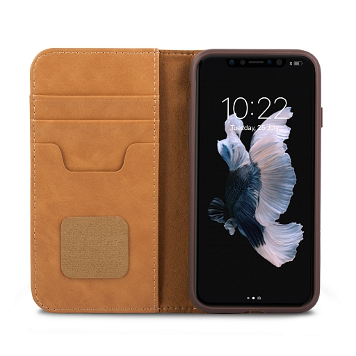 Чехол для iPhone X/XS Moshi Overture Brown