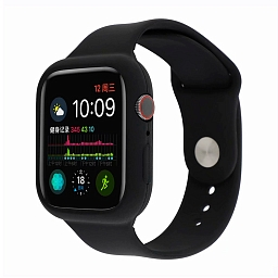 Ремешок для Apple Watch 42/44 mm Dixico Full Size Silicone Sport Band Black