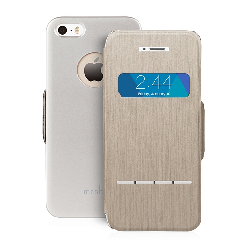 Чехол для iPhone 5/5S/SE Moshi SenseCover Brushed Titanium