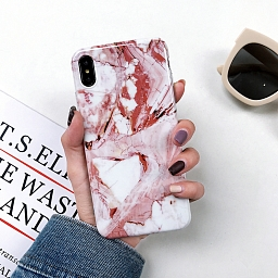 Чехол для iPhone XS Max Marbled Bracket Brown