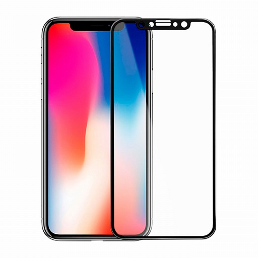 Защитное стекло для iPhone X Mocoll 3D Full Cover 0.3mm Simple Black