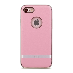 Чехол для iPhone 8/7 Moshi Napa Melrose Pink