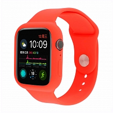 Ремешок для Apple Watch 38/40 mm Dixico Full Size Silicone Sport Band Red