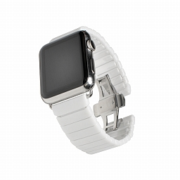 Браслет для Apple Watch 38mm Dixico Ceramic Link Bracelet White