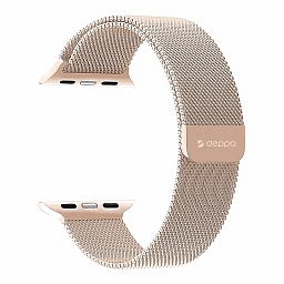 Ремешок для Apple Watch 42/44 mm Deppa Band Mesh Gold