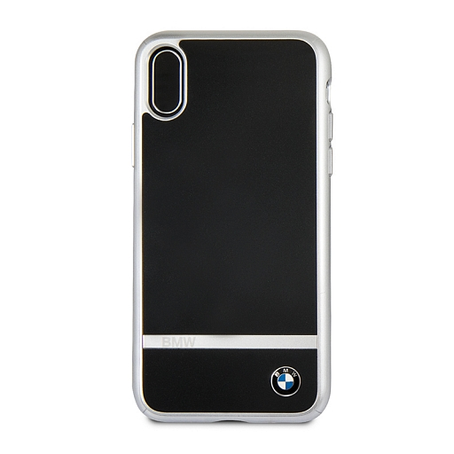 Чехол для iPhone X BMW Signature Aluminium Stripe Hard PC/Aluminium Black