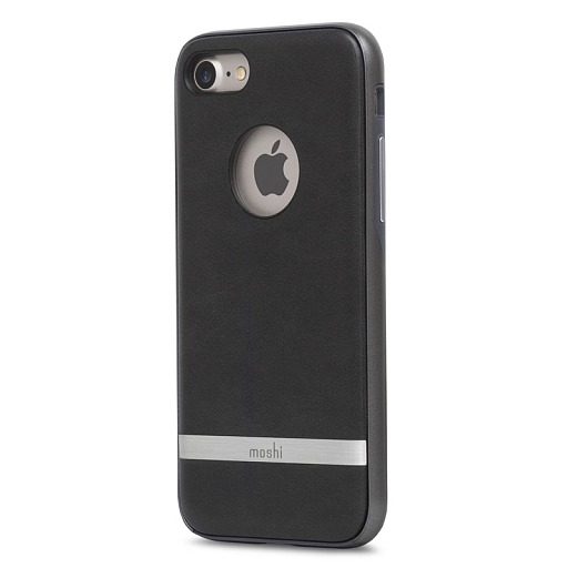 Чехол для iPhone 8/7 Moshi Napa Charcoal Black