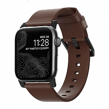 Ремешок для Apple Watch 44mm/42mm Nomad Modern Strap Brown/Black