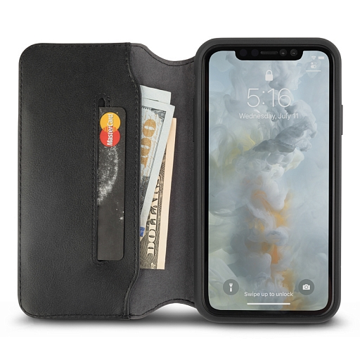 Чехол для iPhone XS Max Moshi Overture Charcoal Black